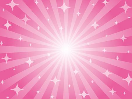 Pink glitter radiation background