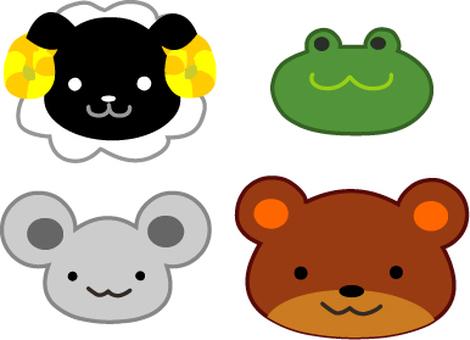 동물 양 개구리 곰 쥐