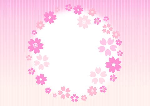 벚꽃 장식 프레임 봄