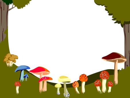 Mushroom forest frame