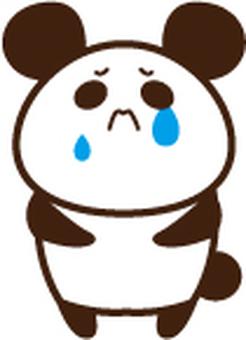 Panda cries