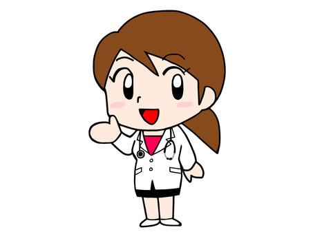 여성 의사 미소