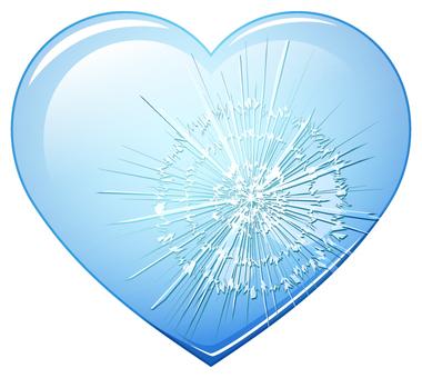 ガラスのハートの心_ひび割れ