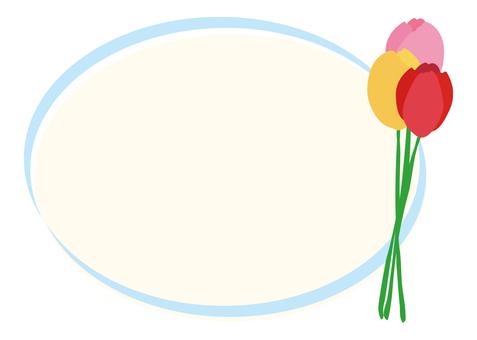 Tulip frame light blue