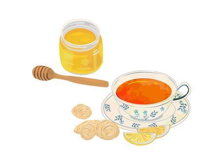 Ginger tea and honey