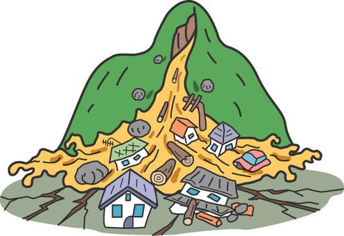 Major earthquake / debris flow damage