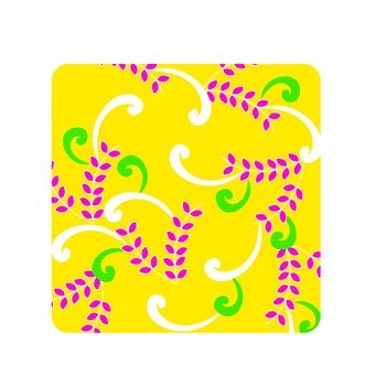 Leaf pattern · yellow