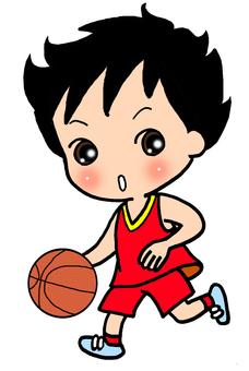 Boy in the basketball club