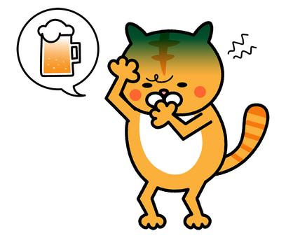 A hangover cat illustration