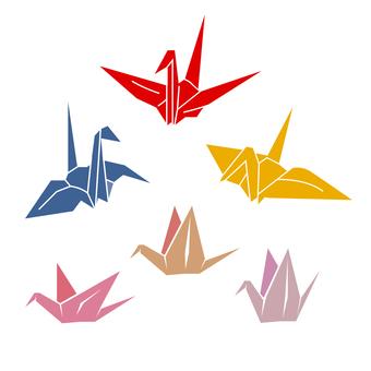折り紙鶴のベクター