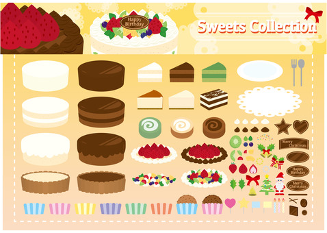 Sweets material 03