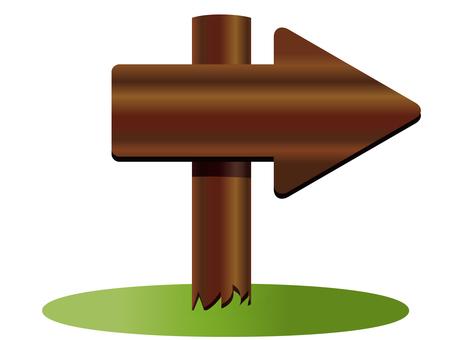 Wooden signboard arrow 2