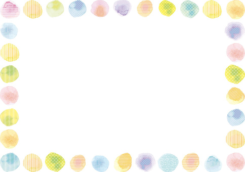 Watercolor drawing Handwritten decoration frame vector ai frame frame