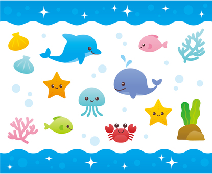 Fun pleasant sea creatures