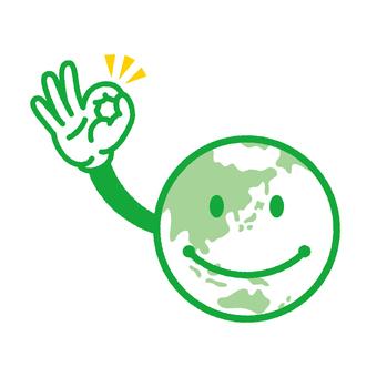 지구 군 선화 녹색
