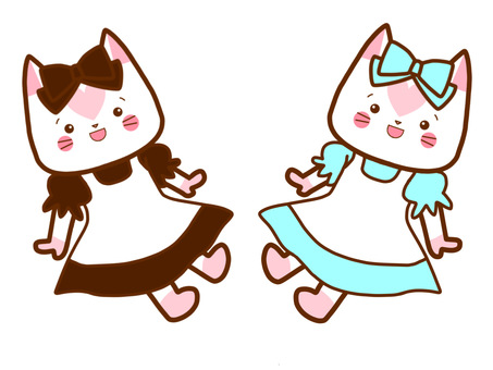 Maid clothes doll cat