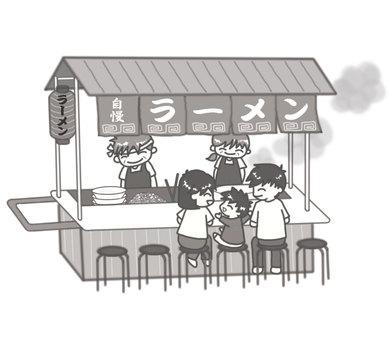 Ramen food stand