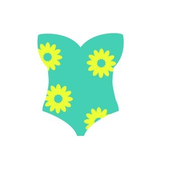 Flower pattern swimwear