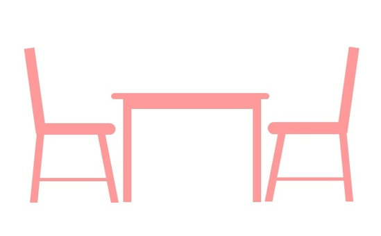 Table & chairs Pink