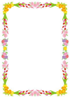 Spring frame, background, A4 vertical, with feet