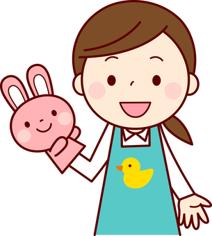 Nursery teachers who use puppets