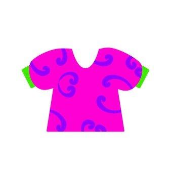 Puff Sleeve T-shirt · Pink