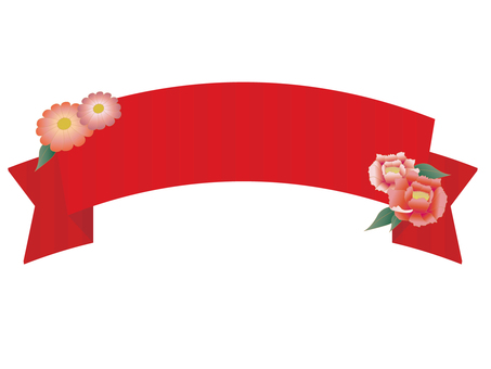 Japanese style ribbon and flowers