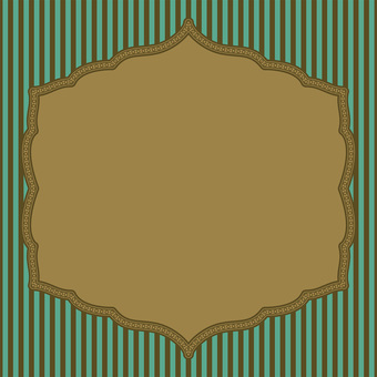 Card (striped gold green)