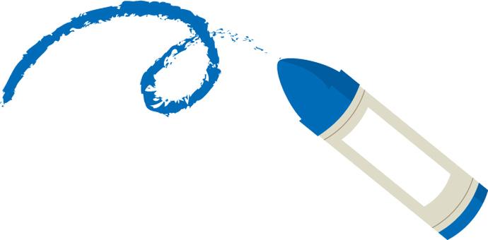Crayon image blue