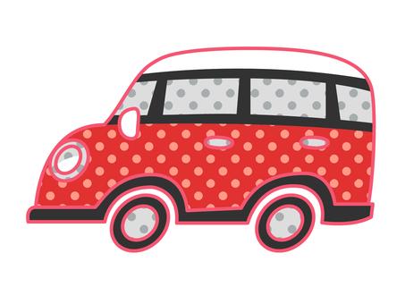 Car _ Retro Pop _ Red