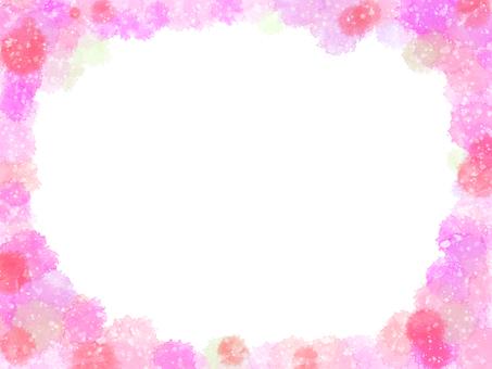 Spring-spring watercolor frame