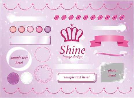 Glitter system design image (pink)