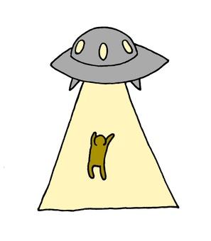 UFO에 납치되는 사람