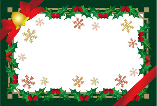 Hiiragi's Christmas frame white background