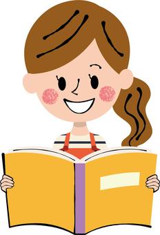 Reading Week Hobby Honest reading female apron