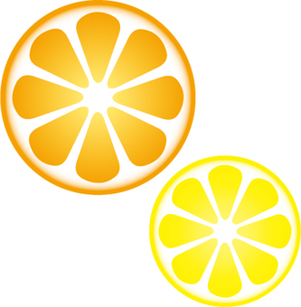 Round of orange and lemon