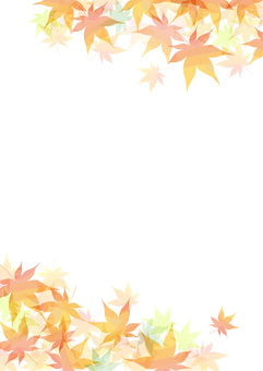 Autumn leaves frame length 2