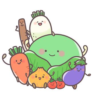 活潑的蔬菜