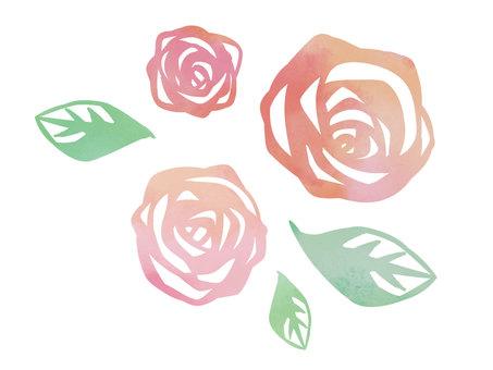 Rose stamp style