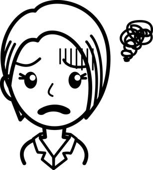 Worry 02 - Female 02 - Black