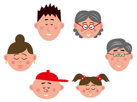 Large family (sleeping face)