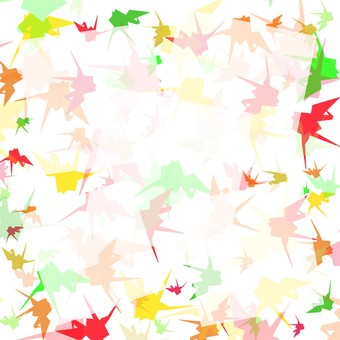 Crane folding background frame