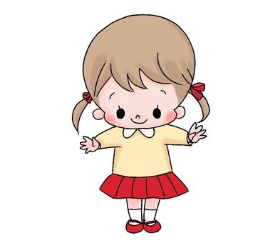 붉은 치마 소녀