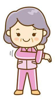 스트레칭 수석 여성