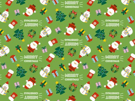 Christmas pattern green