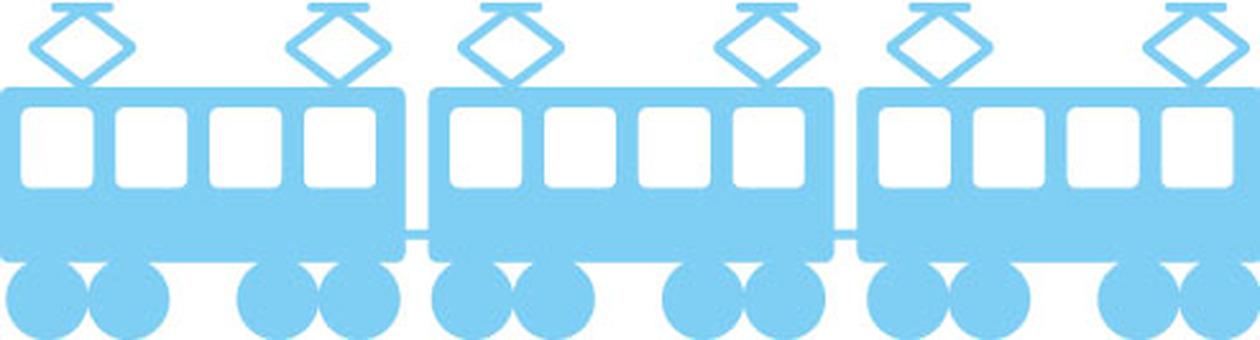 Train light blue