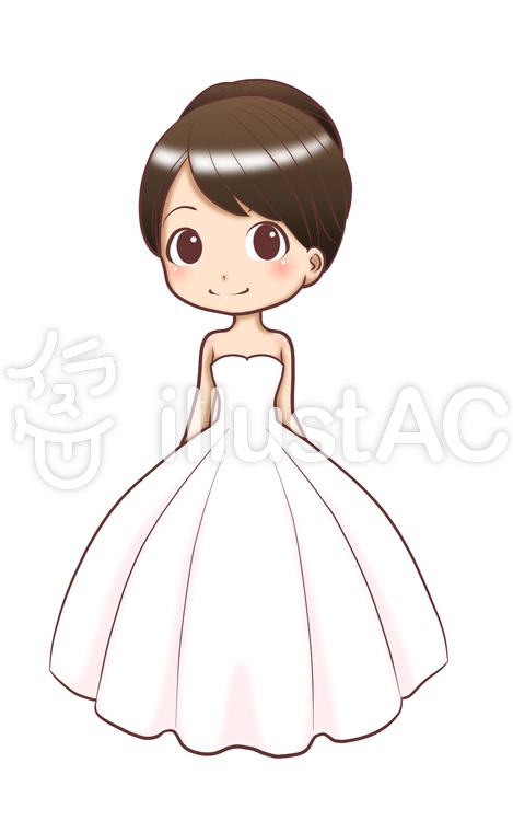 ウェディングドレス,プリンセスラインイラスト , No 760702
