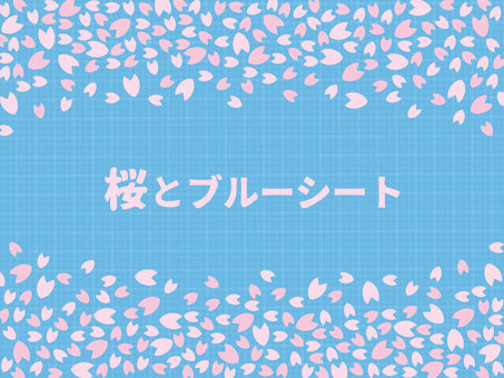Cherry blossoms and blue sheets (without png characters)