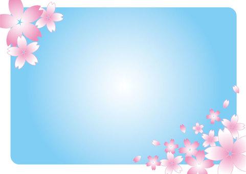 櫻花框架淺藍色01