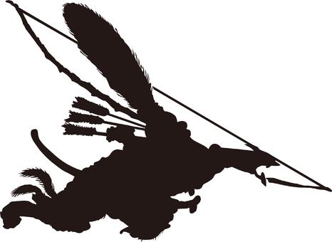 Ukiyo-e character silhouette part 117